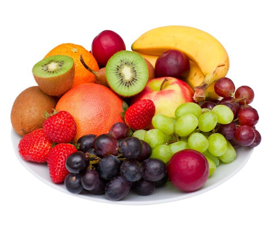 Fruit, vegetable and cereals serving sizes