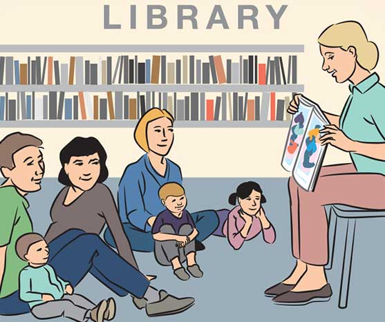 Join in free activities at the library.