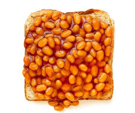 Easy dinner suggestions can include baked beans on toast and lamb chops.