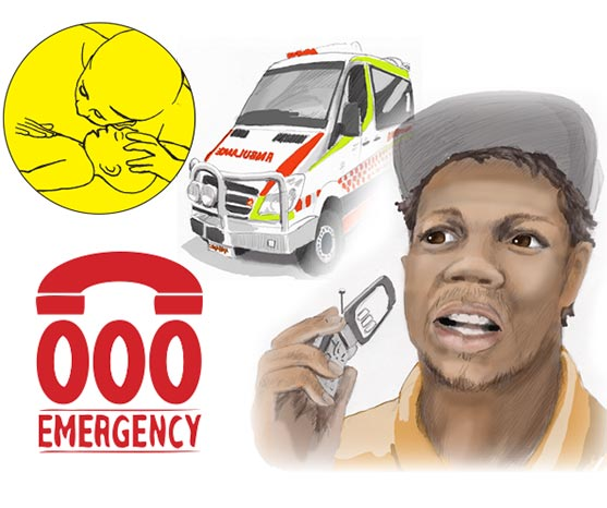If baby isn't breathing, call 000 or take baby to the clinic.